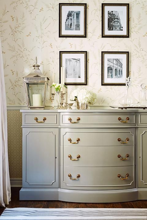 I love the color and design of this dresser from Sarah Richardson Design.  She used it in her real potential subdivision house.