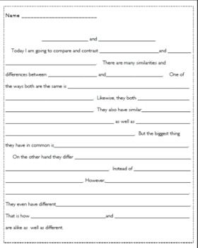writing compare and contrast essay 5th grade Middle school compare/contrast essay outline writing-expository, writing-essays grade levels 5 th.