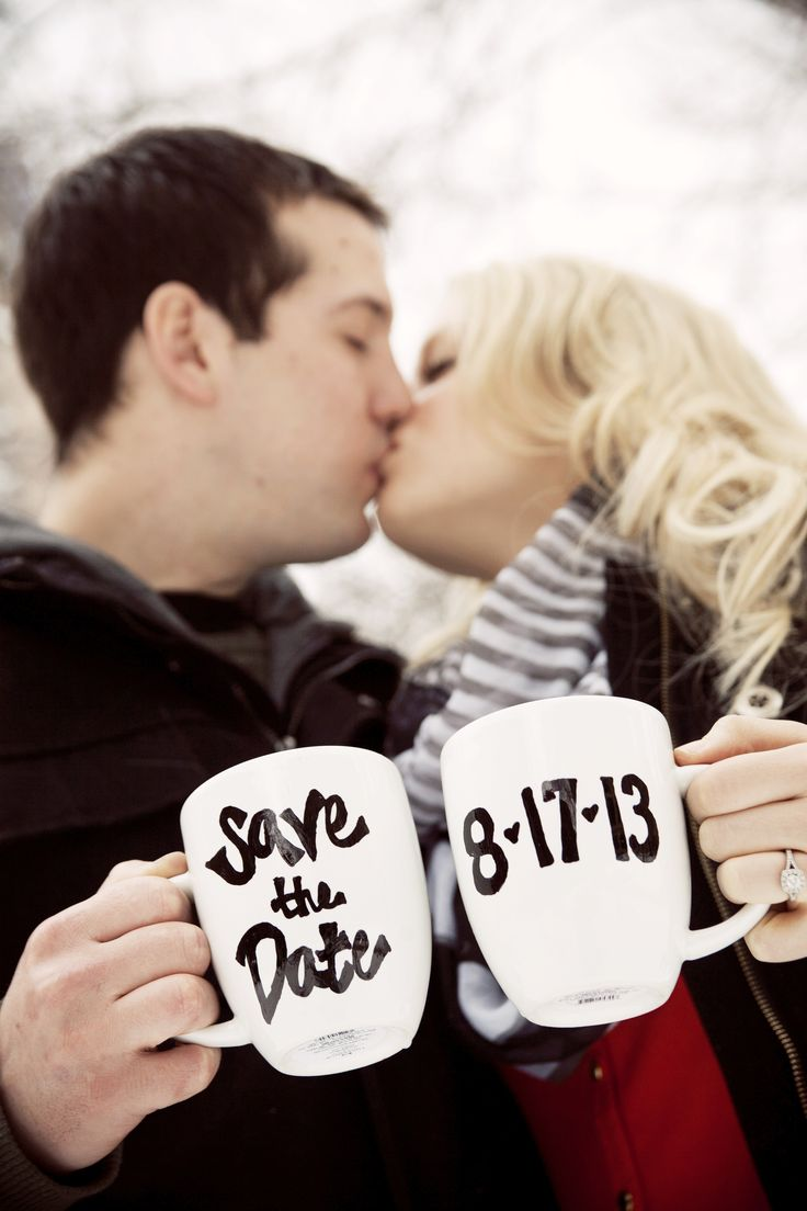 Love this Save the Date idea! Photo by Sara C. #MinneapolisWeddingPhotography #EngagementPhotography #savethedate