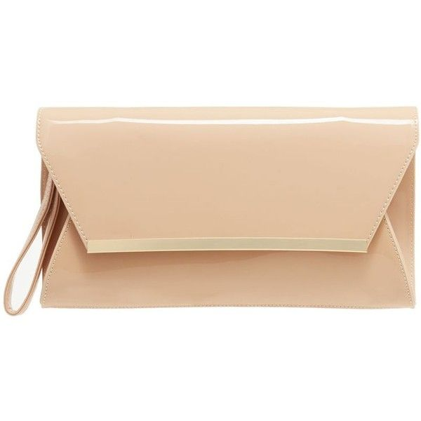 Principles by Ben de Lisi Natural patent clutch bag ❤ liked on Polyvore featuring bags, handbags, clutches, beige purse, pouch purse, patent purse, patent handbags and beige clutches