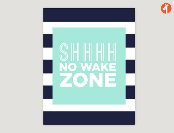 INSTANT DOWNLOAD  No Wake Zone  nautical nursery by giraffesnstuff, $7.99