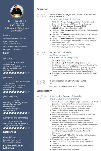 resume templates for video