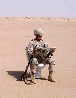 Afghanistan Porta Potty -     ...takin' a load off.