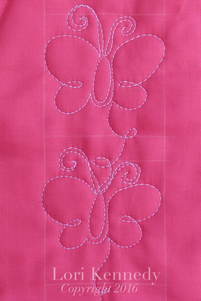 The Butterfly-A FREE Machine Quilting Tutorial The Inbox Jaunt                                                                                                                                                      More