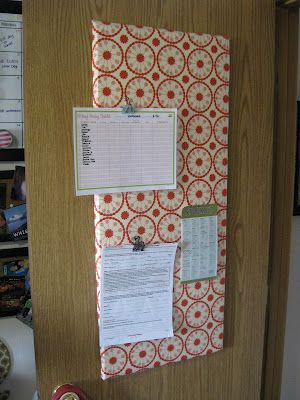 (Almost) free DIY bulletin board from Styrofoam & Cardboard- this is brilliant!
