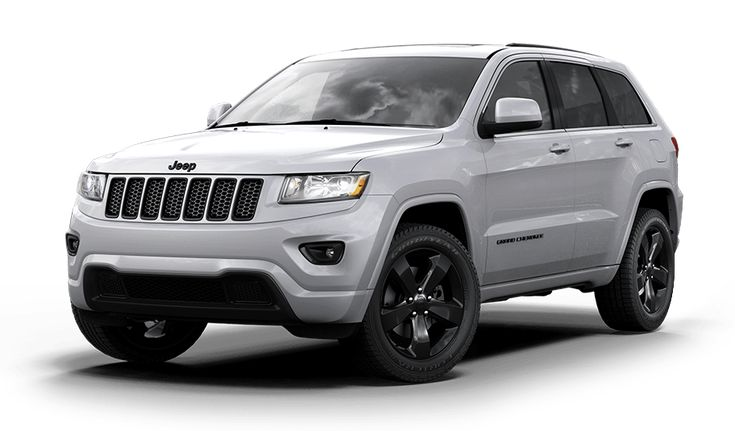 The 2015 Grand Cherokee Altitude features exclusive accents, including 20-inch black high-gloss wheels, an 8.