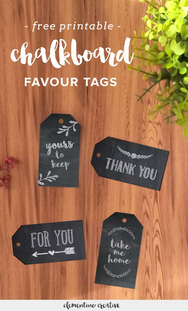 Free Printable Chalkboard Favour Tags 848 best