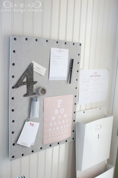 linen-pinboard-finished-and-styled cover cork board with fabric