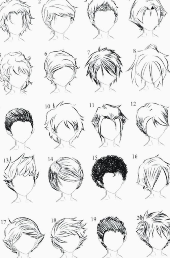 Messy Anime Hairstyles Boy