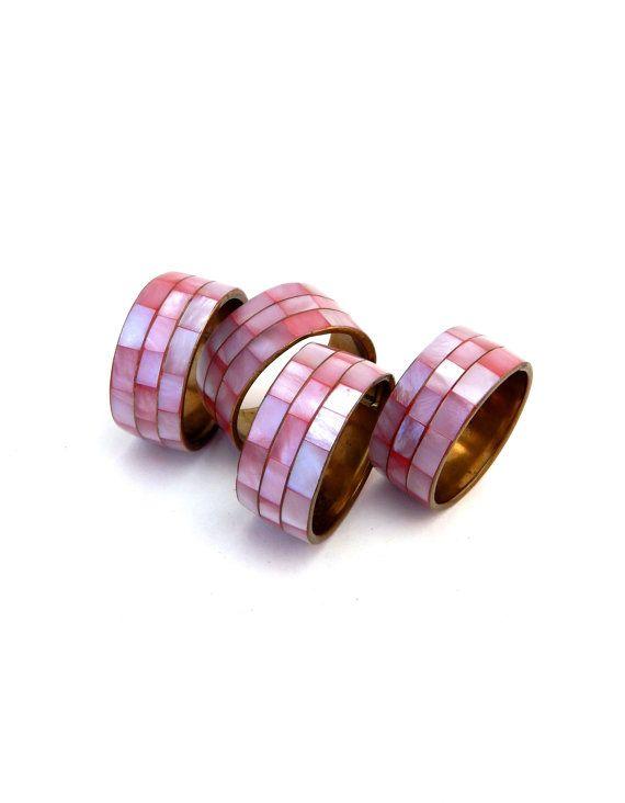 Conjunto de 4 anillos rosa Napking mediados por HiddenStairwayFinds