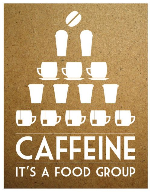 Caffeine: It's a food group. Or a whole pyramid, depending on how you roll. SO true