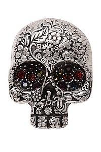 Nickel Skull with Multi-Color Rhinestone Ring: Skulls Webs Bats, Calaveras, Faces Bones, Jewels Skull, Skull Rings, Calavera Skul, Skull Skulls Skull, Engraving Sugar, Skulls Skeletons Cemetery