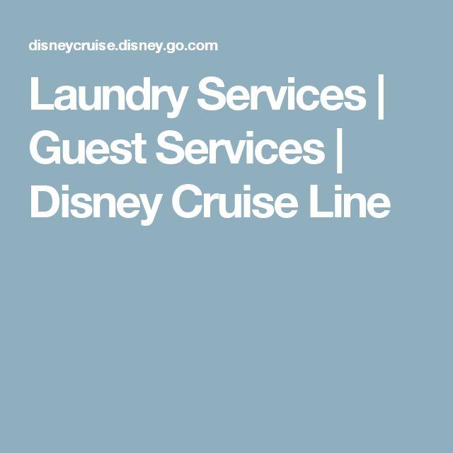 Laundry Services | Guest Services | Disney Cruise Line