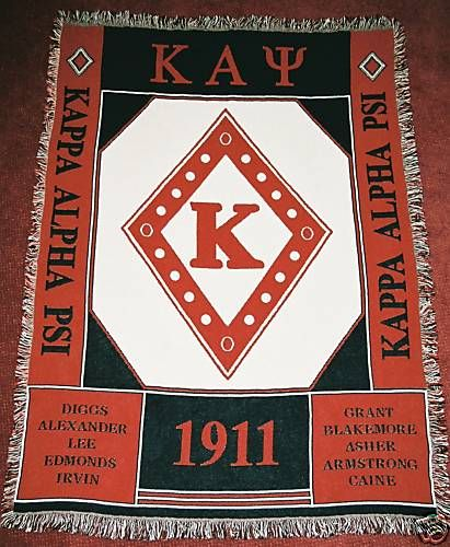 Kappa Alpha Psi afghan throw