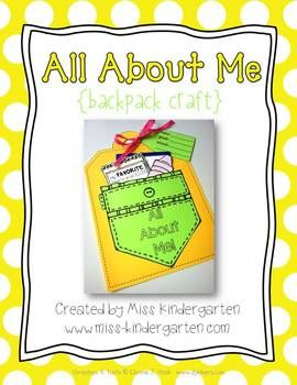All About Me- Backpack Craft