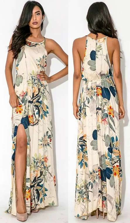 The delicate design of this #maxidress lends a reminiscent of elegance. It is one of the best dresses to keep you fashion and graceful. More surprise at OASAP!
