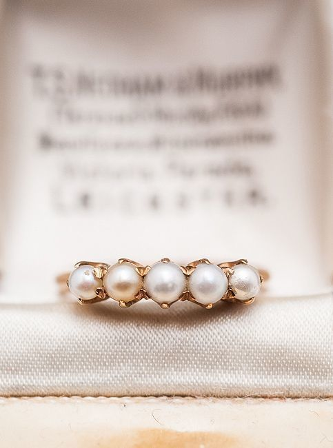 10 gorgeous pearl engagement rings for every kind of bride - Pearl Wedding Ring