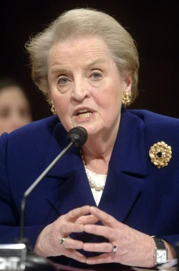 1997 – Madeleine Albright becomes the first woman to serve as United States Secretary of State.   Former Secretary of State Madeline Albright testifies before a Senate ...