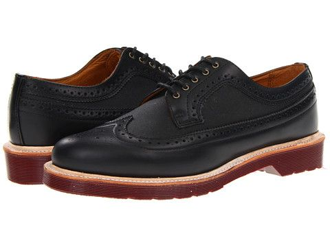 Dr. Martens Alfred Brogue Shoe Black/Black/Polished Smooth - Zappos.com Free Shipping BOTH Ways