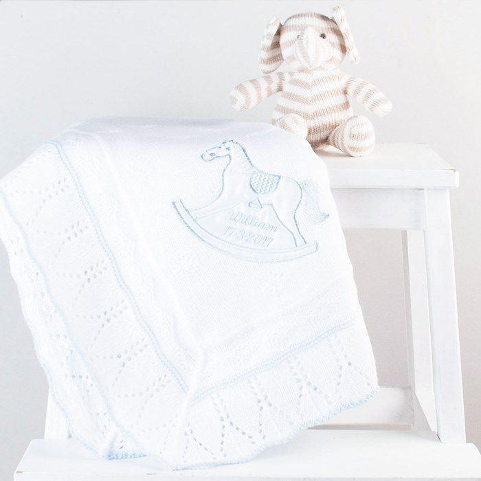 Personalised Rocking Horse Shawl for Boys | GettingPersonal.co.uk
