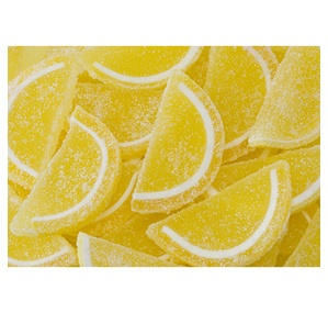 1 Pound, 4 Ounces of Candy Fruit Jell Slices - Lemon: 5LB Box
