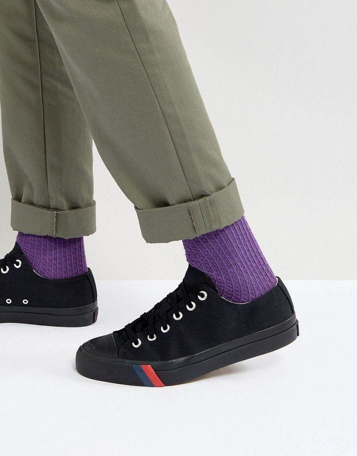 Pro Keds Royal Low Triple Black Canvas Sneakers - Black