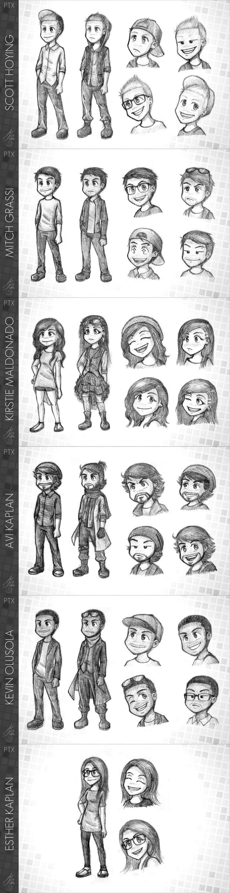 Pentatonix - PTX comic - 6 characters by Raelys-Fenrika.deviantart.com on @DeviantArt