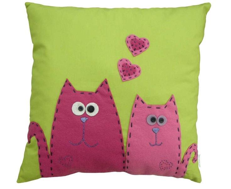 Nomadways Felt Embroidered Pillow. $40.00, via Etsy.