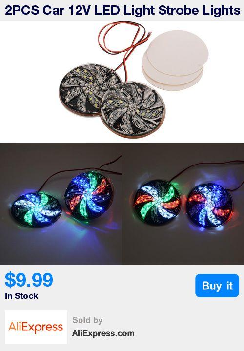 2PCS Car 12V LED Light Strobe Lights Multi Color Signal Round Lamp Fog Lamps DIY Flashing Warning lights * Pub Date: 22:01 Feb 14 2017
