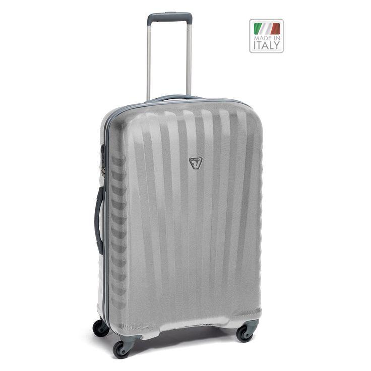 Mittelgroßer #Koffer Roncato Uno Zip ZSL bei Koffermarkt: ✓leicht ✓Polycarbonat-Rahmenkoffer ✓4 Rollen ✓silber ⇒Jetzt kaufen
