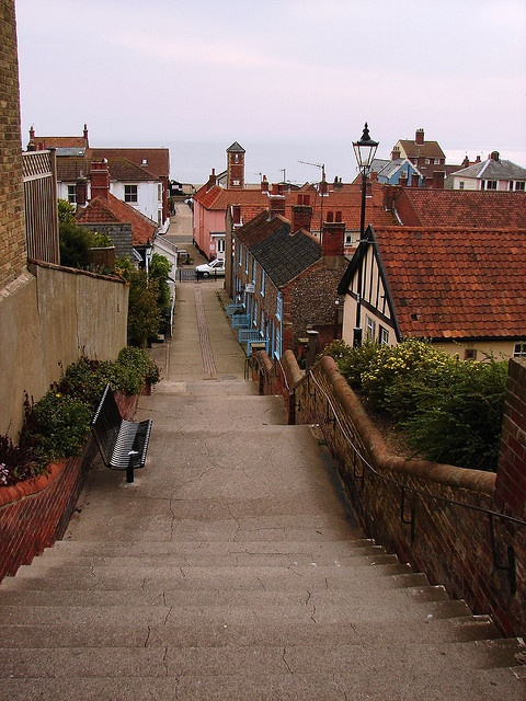 The Town Steps Aldebourgh Suffolk England (today)