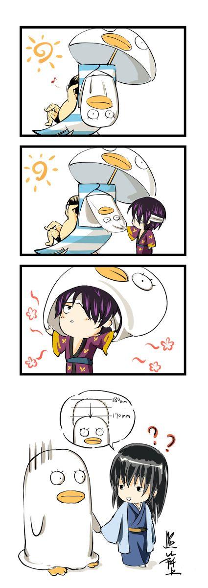 Katsura Kotarou, Takasugi Shinsuke, Ko Elizabeth *Why didn't Zura realize that's not Elizabeth?