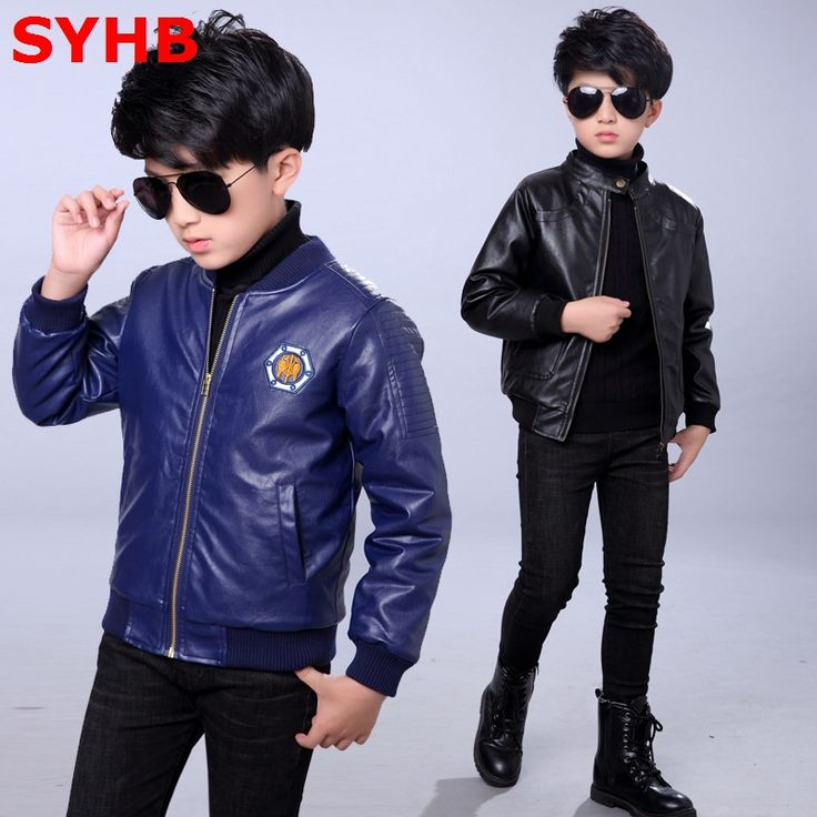 >> Click to Buy << 2017 Spring Boys Leather Jacket Coats Fleece Kids Leather Jackets Boys Casual Tops Black Warm Children Outerwear SYHB12303 #Affiliate
