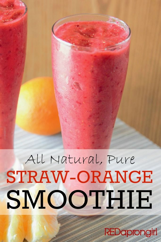 Strawberry Orange Smoothie, perfect for winter breakfast when almost nothing is in season