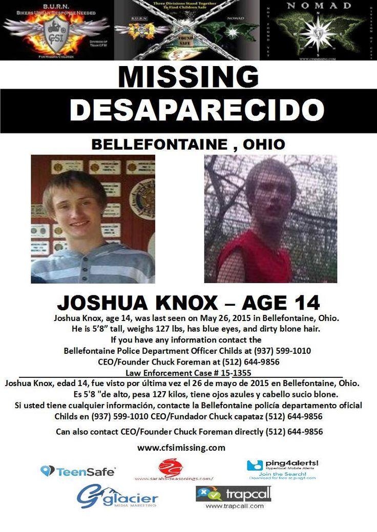 Joshua Knox, Age 14, Was Last Seen On May 26