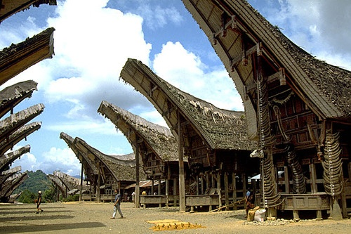 TANA TORAJA  SULAWESI, INDONESIA  The land of the Toraja people, many notionally Christian but most in practice animist, is above all famed for their spectacular (and rather gruesome) burial rites. After a person's death, the body is kept — often for several years — while money is saved to pay for the actual funeral ceremony, known astomate.
