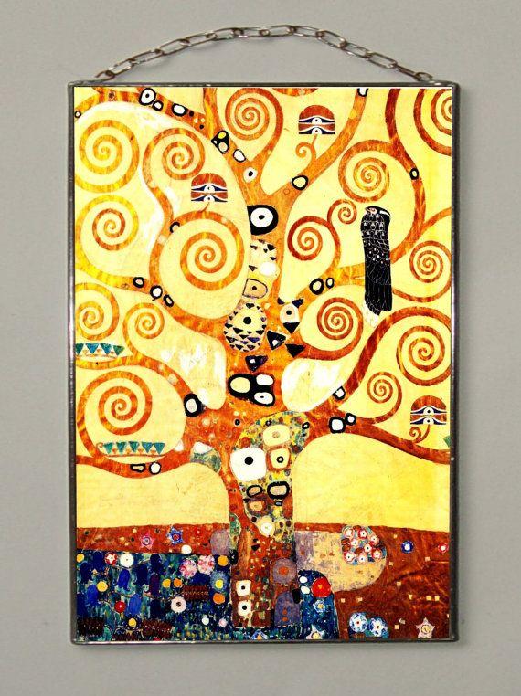 Gustav Klimt Tree of Life Stained glass