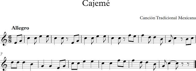 Cajemé. Canción Tradicional Mexicana.
