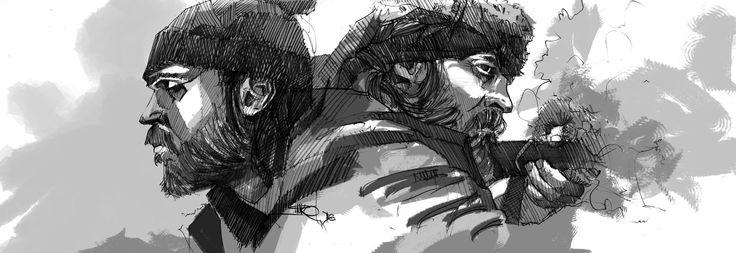 Black&White 11, Marko Pudar on ArtStation at https://www.artstation.com/artwork/aEVXL