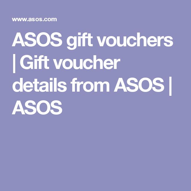 ASOS gift vouchers   Gift voucher details from ASOS   ASOS