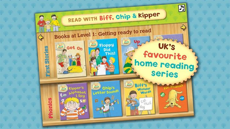 Read with Biff, Chip and Kipper Library // Build your collection of interactive books as you need, one at a time or by level as your child builds their reading skills. Read with Biff, Chip and Kipper is the UK's favourite home reading series. The highly successful Oxford Reading Tree reading scheme is used in 80% of UK primary schools. It has been developed by leading educational experts and tailored to match current teaching practice.