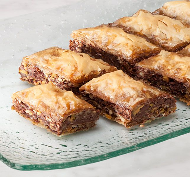 """Baklava recipe from Revive Youth Valentine's Banquet. I would use """"less"""" of the syrup and less lemon zest, but that's a personal preference."""