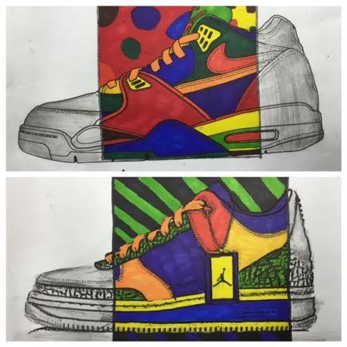 The Shoe Drawing -8th grade  howardkanter.com