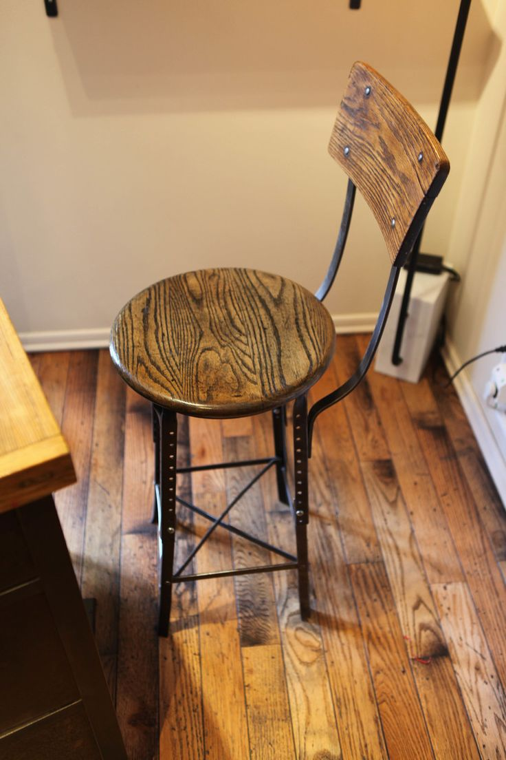 Custom Salon Furniture Made By Brooklyn Reclamation For Little Axe Salon.  Reception Chair Made Of