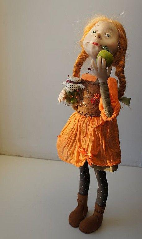"""""""Яблочное варенье"""" - авторская кукла,полимерная глина ливингдолл (living doll)"""