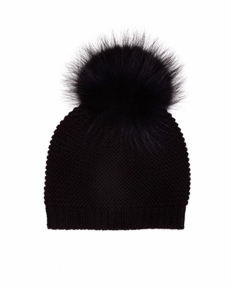 Women's Natural Knit Fur Pom Pom  Hats RORY | RUDSAK