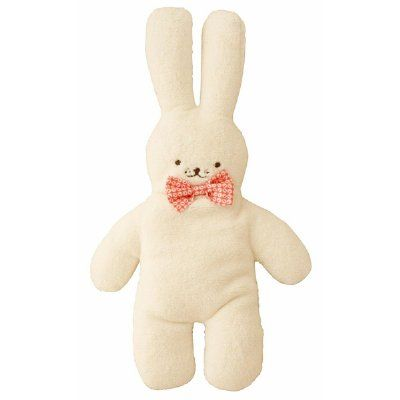 This adorable pancake snuggle bunny is just so soft and lovable. Perfect size for cuddling and suitable from birth. Makes a lovely gift. Measures 36cm