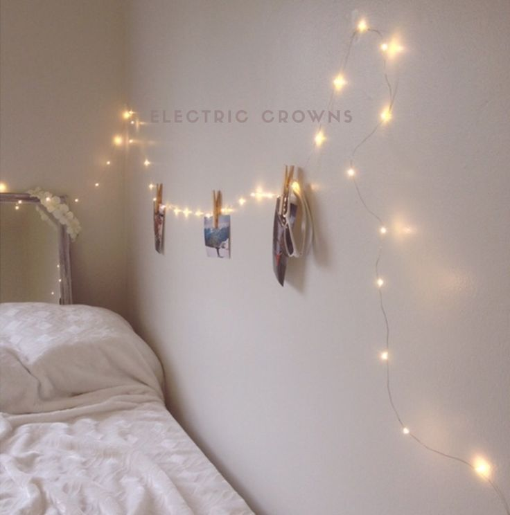 70 best fairy lights bedroom images on pinterest bottle for Room decor led lights