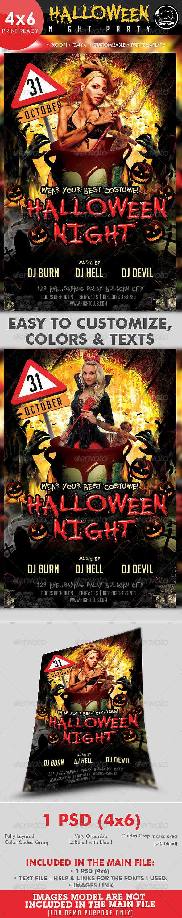 45 best Halloween Flyers & Posters images on Pinterest