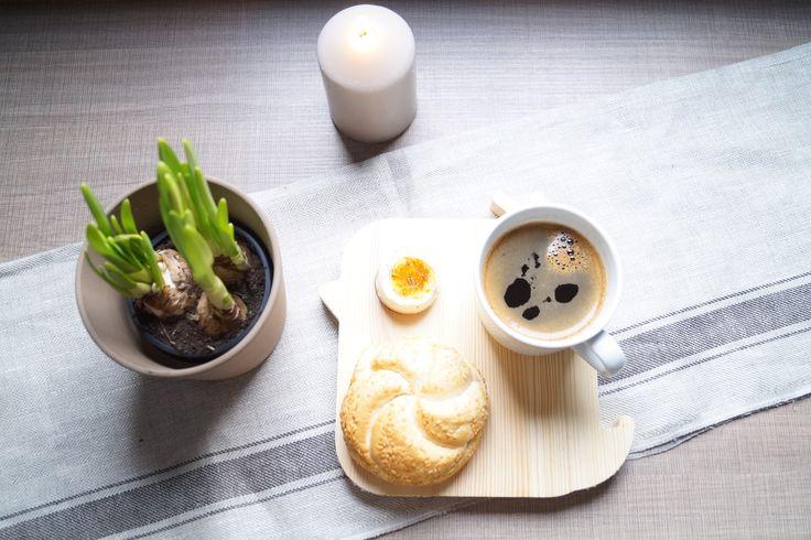 Deska śniadaniowa z drewna - duża kurka Lenko Manufaktura